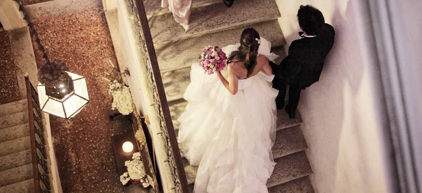 sposi scalinata Ca' Marcello