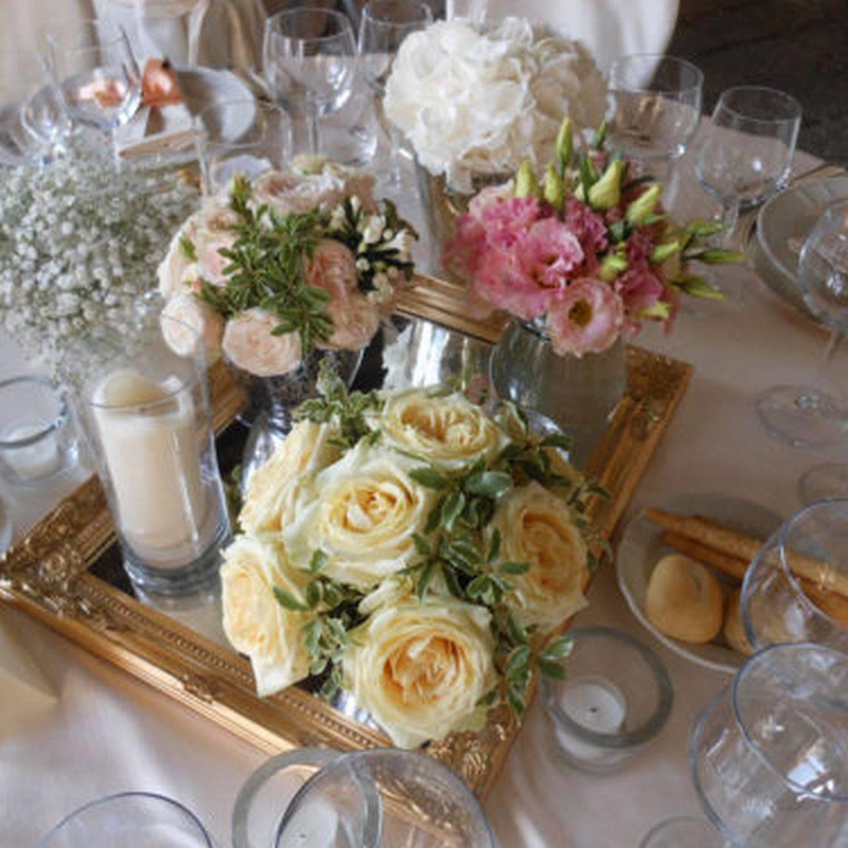 centro tavola con cornici