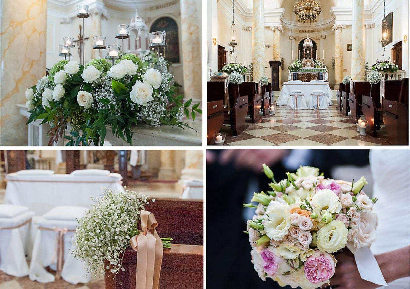 addobbi floreali del matrimonio in chiesa