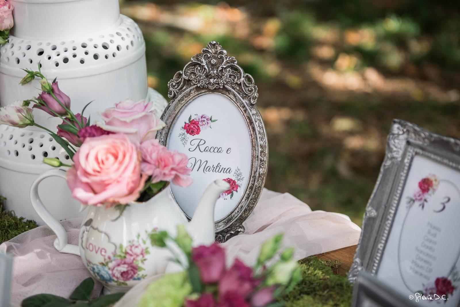 tableau mariage con cornici antiche