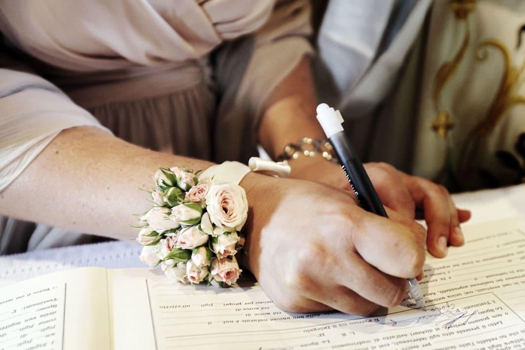 dettaglio firma registro matrimonio